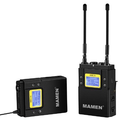 Mamen MIC-01 UHF Dual-Channel Wireless Microphone System